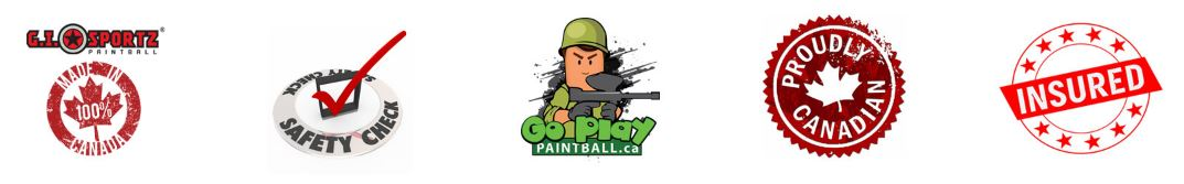 Go Play paintball Badges at Bottom of Page